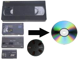 vhs to dvd icon